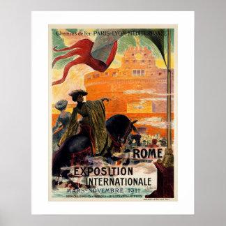 Annonce 1911 antique vintage de voyage d'expo de