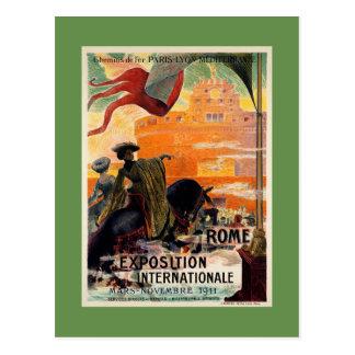 Annonce 1911 antique vintage de voyage d'expo de cartes postales