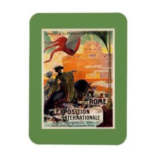 Annonce 1911 antique vintage de voyage d'expo de magnets