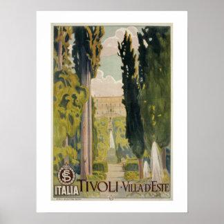 Annonce italienne vintage Tivoli Latium Rome de Poster