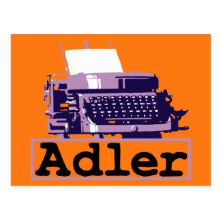 Annonce sale antique de machine à écrire de style carte postale