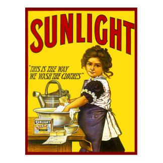 Annonce vintage de lumière du soleil cartes postales