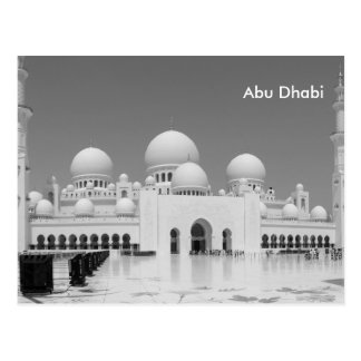 Annonce vintage de tourisme de voyage d'Abu Dhabi Carte Postale