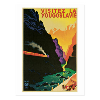 Annonce vintage de voyage de la Yougoslavie de Carte Postale