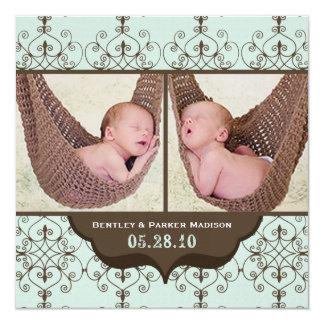 Annonces de naissance de Bentley James Carton D'invitation 13,33 Cm
