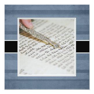 Annonces/invitations de Mitzvah de barre Carton D'invitation 13,33 Cm