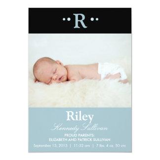 Annonces modernes de naissance de bébé de carton d'invitation  12,7 cm x 17,78 cm