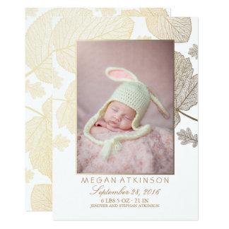 Annonces nouveau-nées de naissance de photo de carton d'invitation  12,7 cm x 17,78 cm
