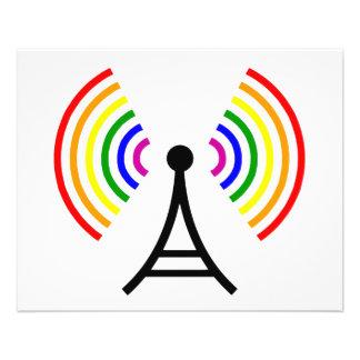 Antenne gaie de signal d'arc-en-ciel de WiFi Prospectus 11,4 Cm X 14,2 Cm