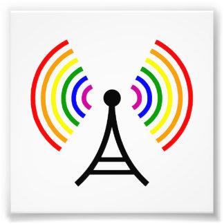 Antenne gaie de signal d'arc-en-ciel de Wifi Tirage Photo
