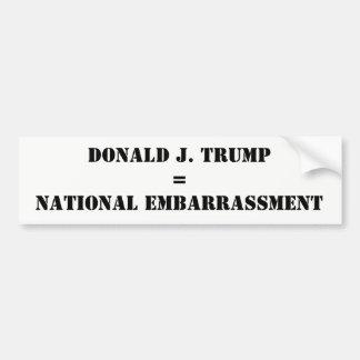 Anti-Atout d'embarras de Donald J. Trump National Autocollant De Voiture