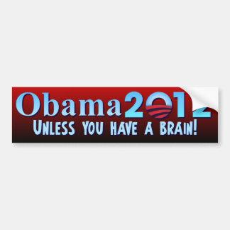 Anti Barack Obama - cerveau Autocollant De Voiture