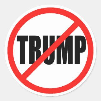 Anti Donald Trump 2016 autocollants ronds