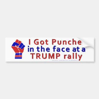 Anti drôle de Donald Trump perforé dans le visage Autocollant De Voiture