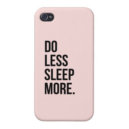 Anti Inspirerend Funny Quotes Do Less Pink iPhone 4 Hoesje