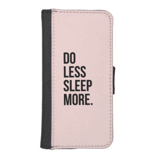 Anti Inspirerend Funny Quotes Do Less Pink iPhone 5 Portemonnee Cases