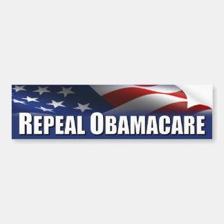 Anti Obama - abrogation OBAMACARE Autocollant De Voiture