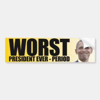 Anti Obama : Le plus mauvais Président Ever - Autocollant De Voiture