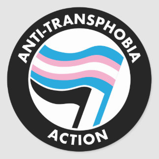 Anti-Transphobia autocollant