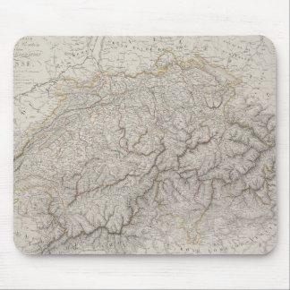 Antiek Kaart van Zwitserland Muismatten