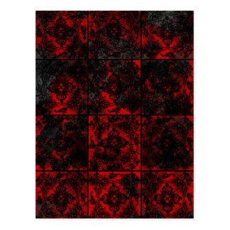 Antiek Rode Gotische huwelijksaankondiging Briefkaart