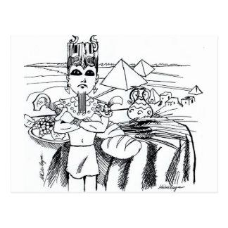 antigo d egito de MESA de COM de farao Cartes Postales