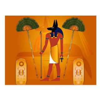 Anubis, Egyptien antique Carte Postale