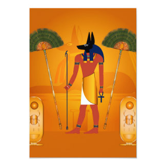 Anubis, Egyptien antique Carton D'invitation 12,7 Cm X 17,78 Cm