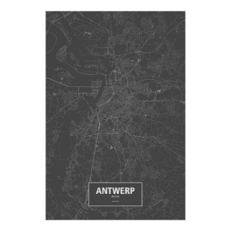 Anvers, Belgique (blanche sur le noir)