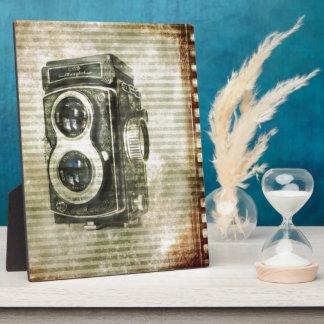 Appareil-photo grunge de cru de photographie de impressions sur plaque