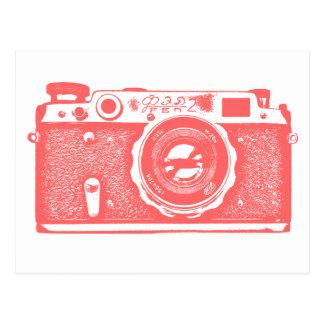 Appareil-photo russe soviétique - rose tropical cartes postales