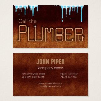 Appelez le plombier cartes de visite