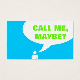 appelez-moi, peut-être ? bulle de la parole cartes de visite