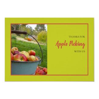 Apple sélectionnant le carte de remerciements de