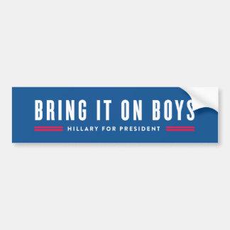 Apportez-le sur des garçons autocollant de voiture