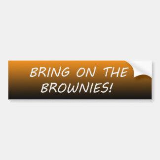 """Apportez sur les """"brownie"""" ! autocollant de voiture"""