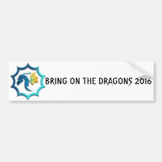 Apportez sur les dragons 2016 autocollant de voiture