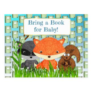 Apportez un livre pour la carte de baby shower de