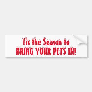 Apportez vos animaux familiers dedans autocollant de voiture