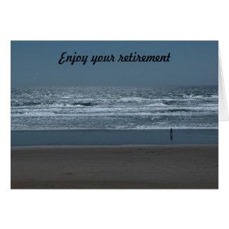 Appréciez votre retraite carte de vœux