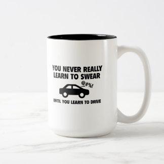 Apprenez à jurer tasse 2 couleurs