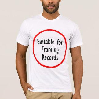Approprié au T-shirt de encadrement de logo de