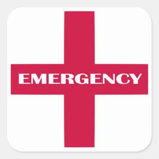 Approvisionnements de premiers secours/kit de sticker carré