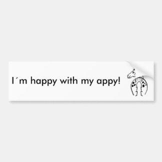 Appy heureux autocollant de voiture
