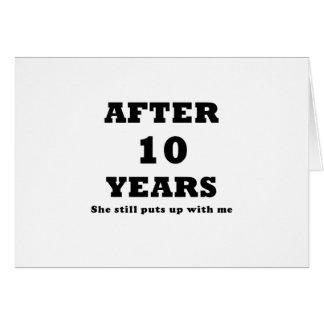 Après 10 ans elle m'acceptait toujours carte de vœux