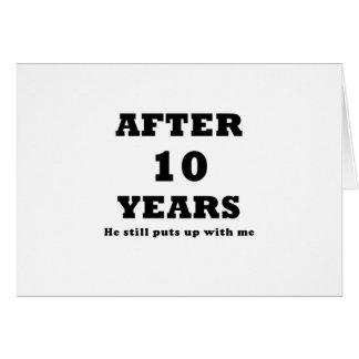 Après 10 ans il m'acceptait toujours carte de vœux