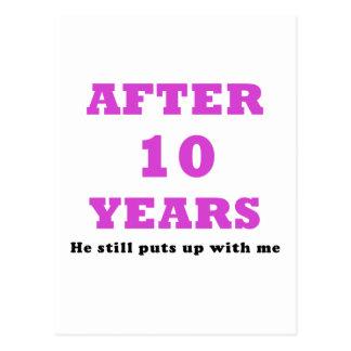 Après 10 ans il m'acceptait toujours carte postale