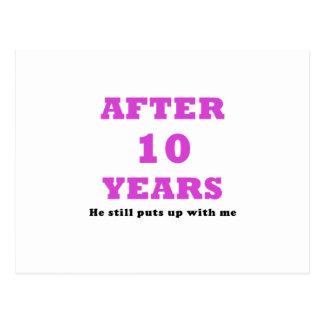 Après 10 ans il m'acceptait toujours cartes postales