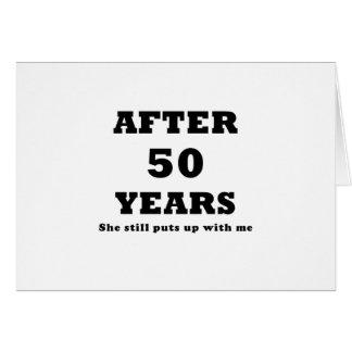 Après 50 ans elle m'acceptait toujours carte de vœux