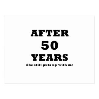Après 50 ans elle m'acceptait toujours carte postale